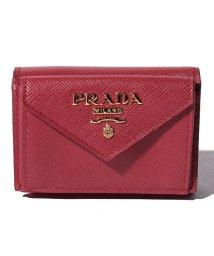 PRADA/【PRADA】3つ折りミニ財布/SAFFIANO METAL ORO【FUOCO】/501594826