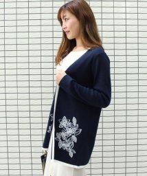 VICKY/刺繍カーデ×リブインナーアンサンブル/501595096