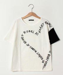SISLEY YOUNG/バイカラープリント半袖Tシャツ・カットソー/501596225