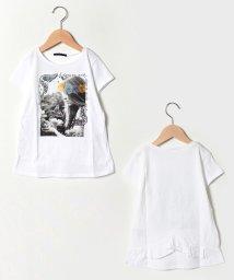 SISLEY YOUNG/フラワーガールバックフリル半袖Tシャツ・カットソー/501596226
