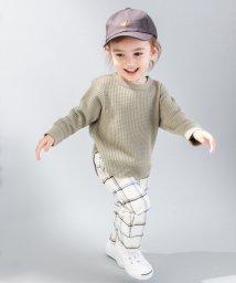 petit main/変形ヘムワッフルTシャツ/501598719