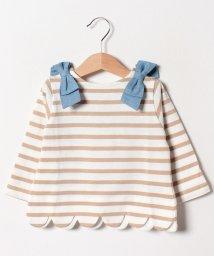 petit main/スカラップボーダーTシャツ/501598729