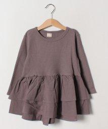 petit main/ワッフル切り替えペプラムTシャツ/501598730