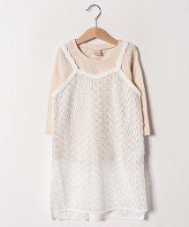 petit main/透けレースロングキャミソール×Tシャツセット/501598731