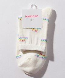 Lovetoxic/レインボーロゴクルーソックス/501598750