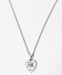 GUCCI/【GUCCI】GHOST NCKL 45CM HEART BLK SLV/501599841