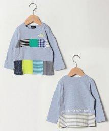 kladskap/パッチワーク切替Tシャツ/501602248