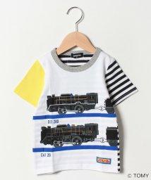 kladskap/プラレール後ろボーダー半袖Tシャツ/501602254