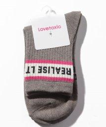 Lovetoxic/ロゴラインクルーソックス/501602325