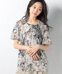 LAPINE BLANCHE/スムース花柄プリントチュニックカットソー/501615653