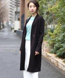 Bou Jeloud/★◆伸縮性バツグンで羽織りやすい◆ポンチカラーレスコート/501616204