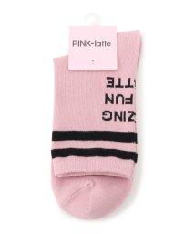 PINK-latte/バックロゴラインソックス/501623757