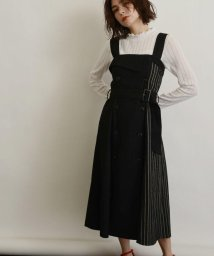 OZOC/[洗える]サイドチェックトレンチジャンパースカート/501624317