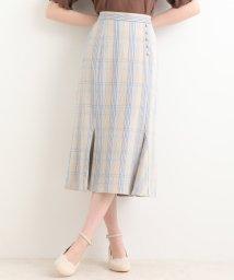 MAJESTIC LEGON/スソヒラチェックIラインスカート/501519158