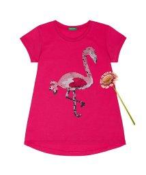 BENETTON (UNITED COLORS OF BENETTON GIRLS)/スパンコールモチーフ半袖Tシャツ・カットソー/501596238