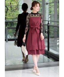 Eimy Peral/レーストップス付き裾パンチングデザインドレス/501603688