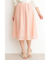 PROPORTION BODY DRESSING/エアリーシャンブレーフレアースカート/501620255
