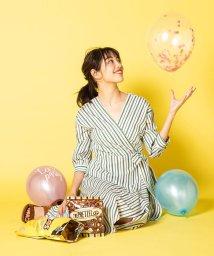 VICKY/【小嶋陽菜さん着用】マルチストライプカシュクールワンピース/501621477