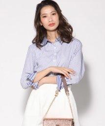 VICKY/【小嶋陽菜さん着用】異素材ストライプシャツ/501621487
