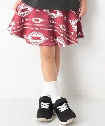 devirock/キッズ 子供服 ポケット付き 総柄1分丈スカッツ スカート 女の子/501622230