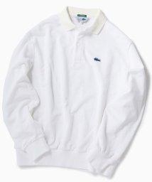 SHIPS MEN/【Begin11月号掲載】LACOSTE: 別注 ビッグシルエット スウェット ロングスリーブ ポロシャツ (トレーナー)/501625187