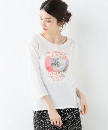 SLOBE IENA/モチーフプリントロングTシャツ/501625194