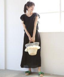coen/【新色登場・WEB限定復刻】フリルスリーブマキシワンピース/501625645