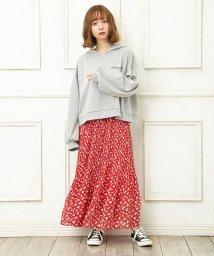 INGNI/単色花柄シフォンプリーツ/スカート/501597430