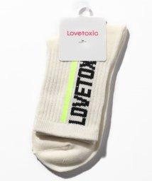 Lovetoxic/ラインロゴクルーソックス/501615393