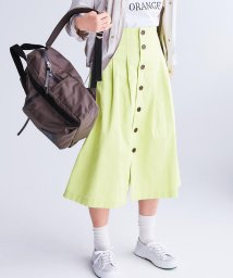 FREDY REPIT/フロント釦ミディ丈タックスカート/501619925