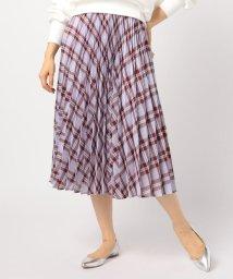 NOLLEY'S/カラミチェックミディ丈アコーディオンプリーツスカート/501619946