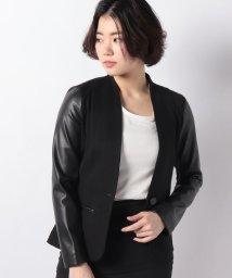SISLEY/フェイクレザードットミラノ切り替えジャケット/501623120