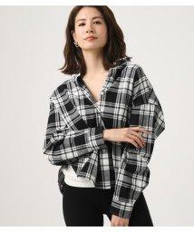 AZUL by moussy/CHECK DROP SHOULDER SHIRT/501627931