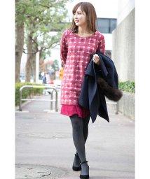 PROPORTION BODY DRESSING/モヘアチェック裾シフォンワンピース/501646367