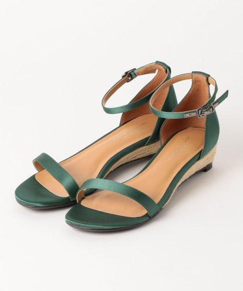 green label relaxing(グリーンレーベルリラクシング)/◆FFC ジュート ウェッジ サンダル(4cmヒール)/36311991269