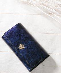 Clelia/財布 レディース 長財布 エナメル 大容量 カードケース付き フラップロングウォレット/501681470