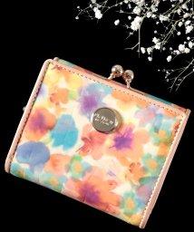 Clelia-u-/ミニ財布 レディース がま口 三つ折り財布 極小財布 本革 レザー エナメル クロコ型押し 花柄 ミニウォレット/501681485