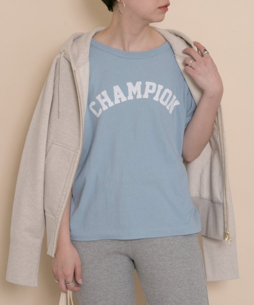 Champion×DOORS ソフトコットングラフィックTシャツ