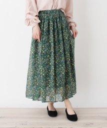 pink adobe/シフォンアソートフラワーギャザースカート/501682178