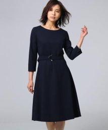 UNTITLED/【洗える】ベルテッドポンチワンピース/501537774