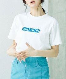 nano・universe/SOMETHING/ロゴTシャツ/501619044