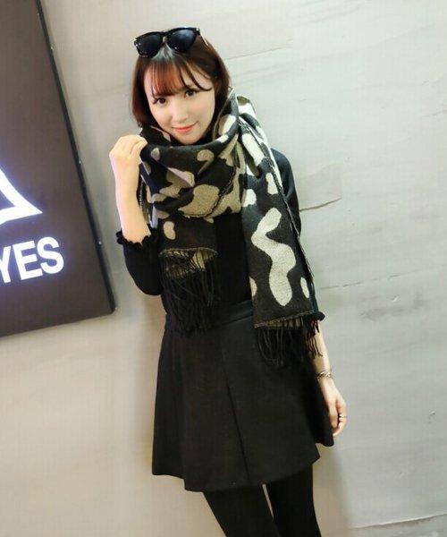 大判厚手マフラー あったかい かわいい 韓国 ファッション レディース 【A/W】【ra−2104】