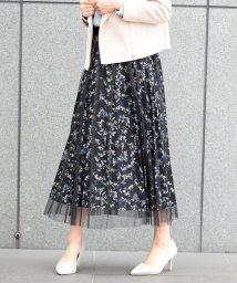 Eimy Peal by POWDER SUGAR/花柄プリーツチュールスカート/501625107