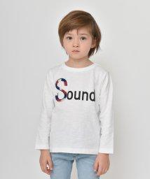 branshes/フリンジロゴデザイン長袖Tシャツ/501680843