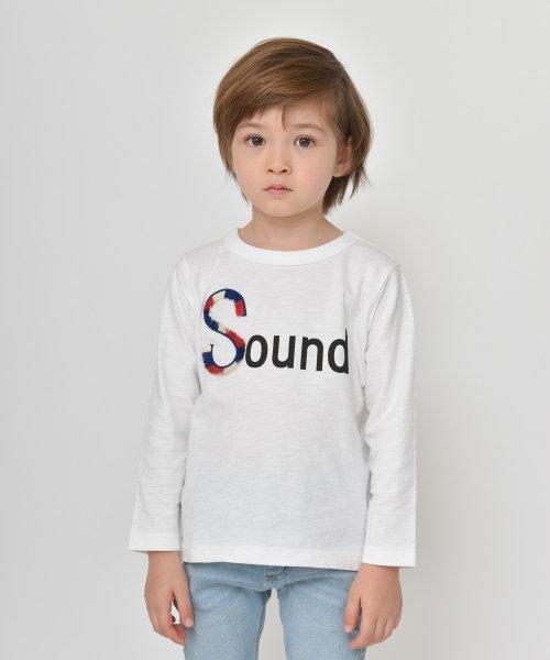 branshes(ブランシェス)/フリンジロゴデザイン長袖Tシャツ/119105382