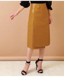 Settimissimo/エコレザー1ボタンデザインスカート/501706118