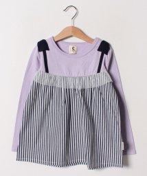 Green Parks(Kids)/ドッキングチュニック長袖Tシャツ/501778699