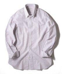 SHIPS MEN/GUY ROVER: パナマ ストライプ ボタンダウンシャツ/501796060