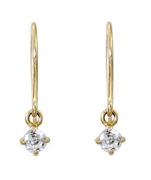JEWELRY SELECTION/K10ゴールド 天然ダイヤモンド 計0.1ct 耳元でエレガントに揺れる フックピアス【K10YG イエローゴールド】/501796099