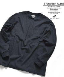 SHIPS JET BLUE/SHIPS JET BLUE: 9FUNCTION【接触冷感・抗菌防臭etc..】 天竺長袖Tシャツ/501796279
